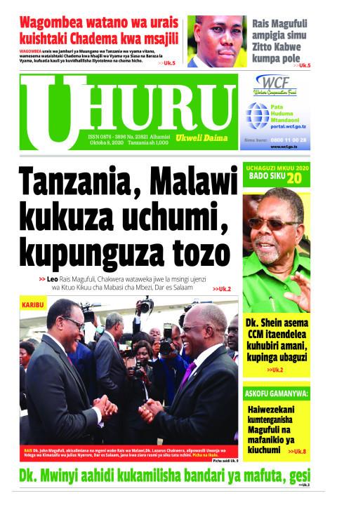 Tanzania, Malawi kukuzauchumi, kupunguza tozo   Uhuru