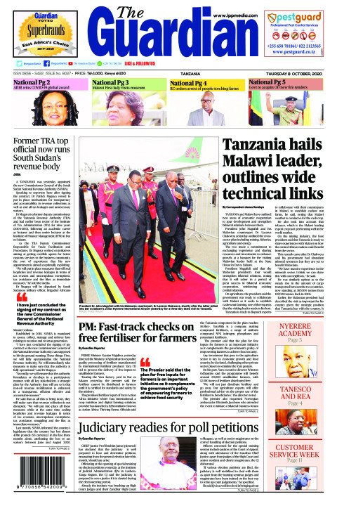 Tanzania hails Malawi leader, outlines wide technical links  | The Guardian