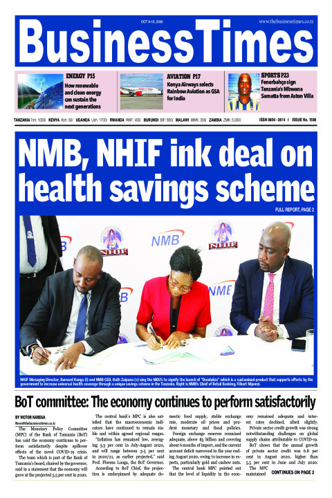 NMB, NHIF ink deal on health savings scheme | Business Times