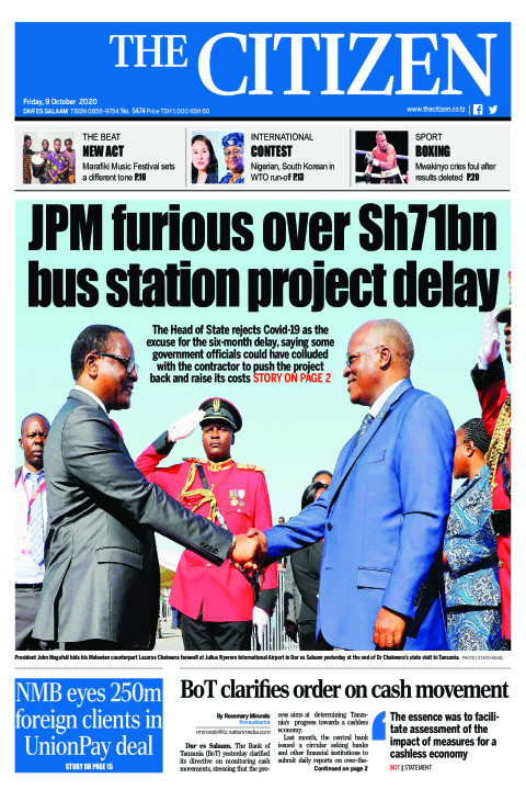 JPM FURIOUS OVER SH71BN BUS STATION PROJECT DELAY