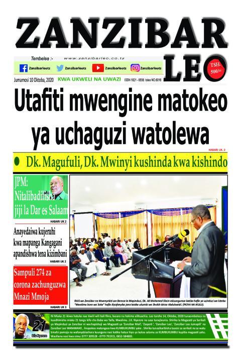 Utafiti mwengine matokeo ya uchaguzi watolewa    ZANZIBAR LEO