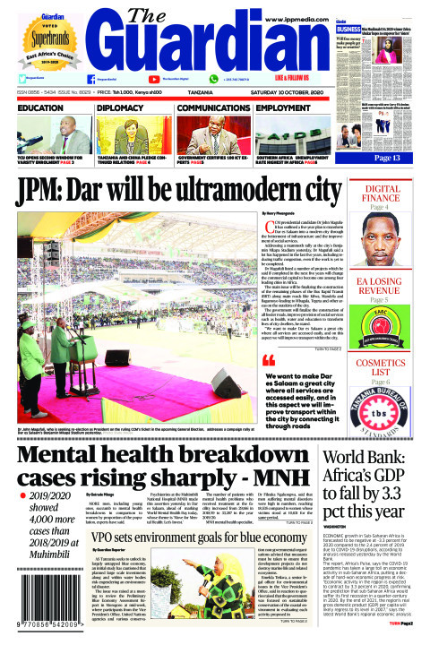 JPM: Dar will be ultramodern city | The Guardian