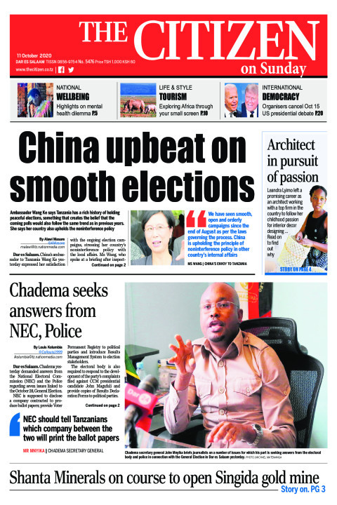 CHINA UPBEAT ON SOOTH ELECTIONS  | The Citizen