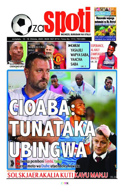 CIOABA: TUNATAKA UNATAKA UBINGWA | ZA SPOTI