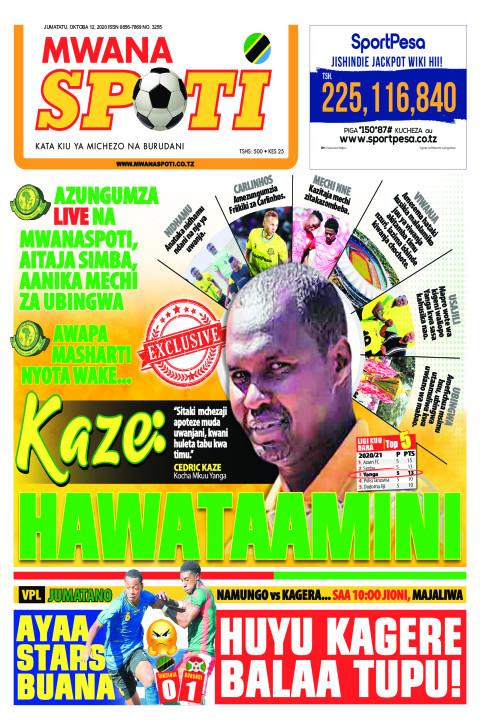 KAZE,HAWATAAMINI  | Mwanaspoti
