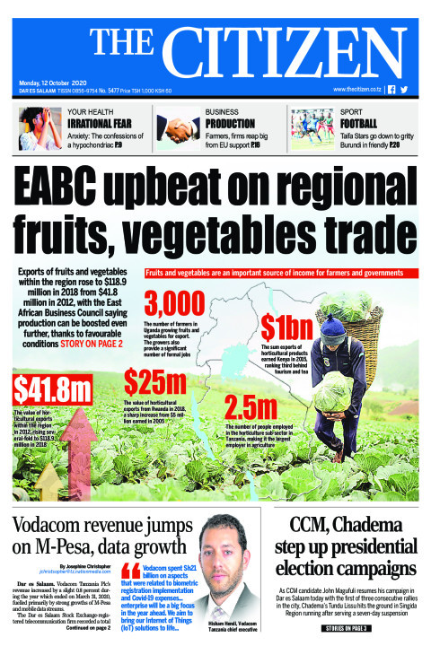 EABC UPBEAT ON REGIONAL FRUITS, VEGETABLES TRADE  | The Citizen