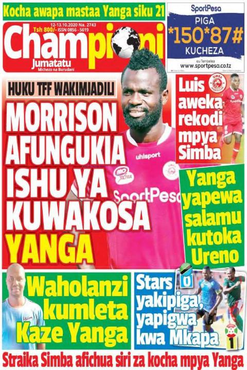 Morrison afungukia ishu ya kuwakosa Yanga | Champion Jumatatu