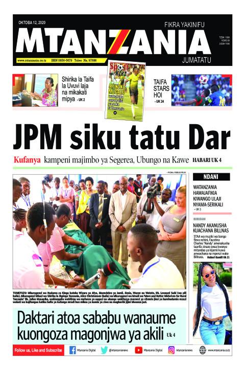 JPM siku tatu Dar  | Mtanzania