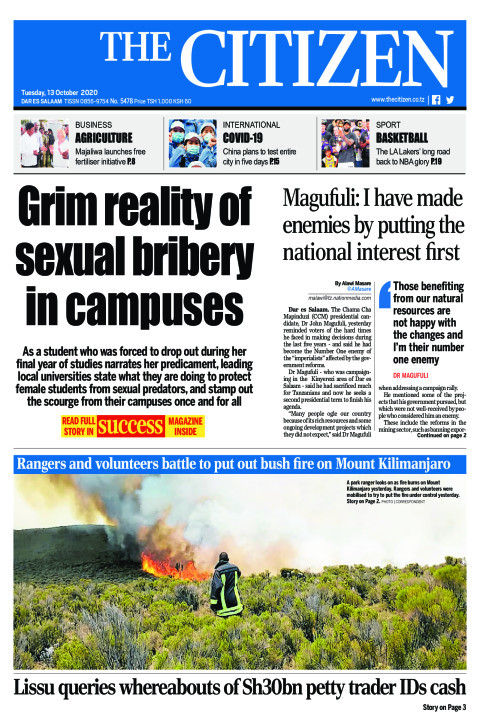 GRIM REALITY OF SEXUALITY BRIBERY IN CAMPUSES  | The Citizen