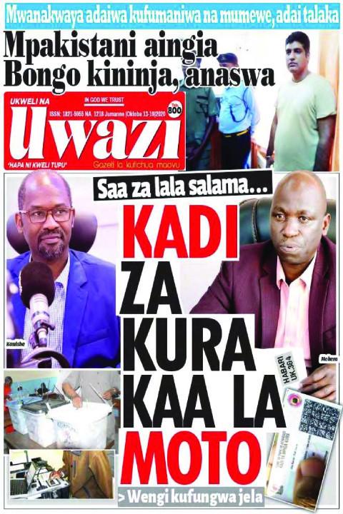 KADI ZA KURA KAA LA MOTO | Uwazi