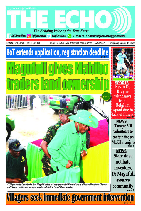 Magufuli gives Mabibo traders land ownership | The ECHO