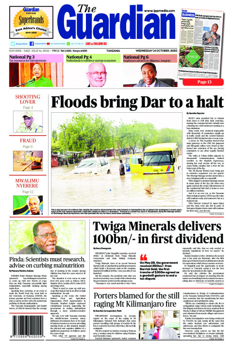 Floods bring Dar to a halt | The Guardian