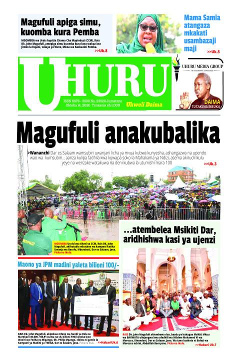 Magufuki anakubalika   Uhuru