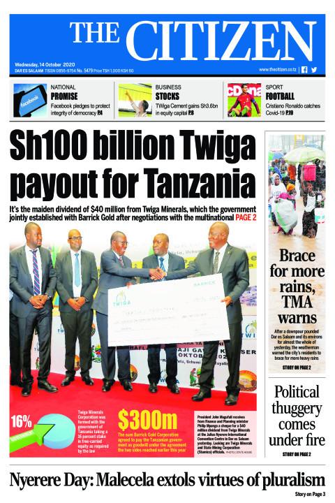 SH100 BILLION TWIGA PAYOUT FOR TANZANIA  | The Citizen