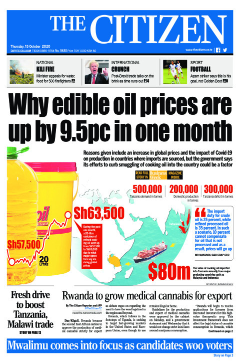WHY EDIBLE OIL PRICES ARE UP BY 9.5PC IN ONE MONTH  | The Citizen