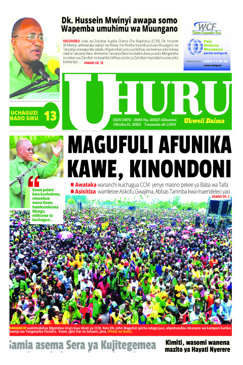 MAGUFULI AFUNIKA KAWE, KINONDONI    Uhuru