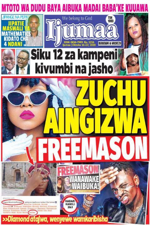 ZUCHU AINGIZWA FREEMASON | Ijumaa Ijumaa