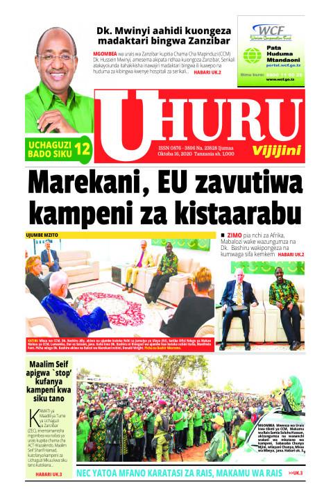 Marwkani, EU zavutiwa kampeni za kistaarabu   Uhuru