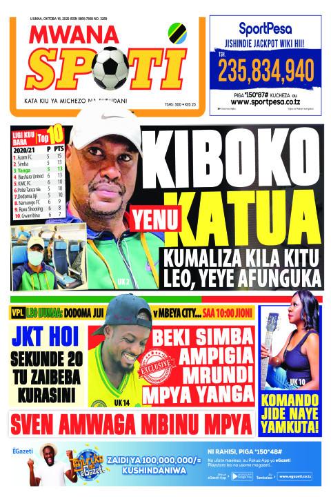 KIBOKO YENU KATUA  | Mwanaspoti