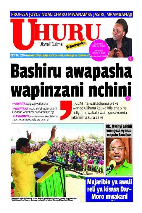 Bashiru awapasha wapinzani nchini   Uhuru