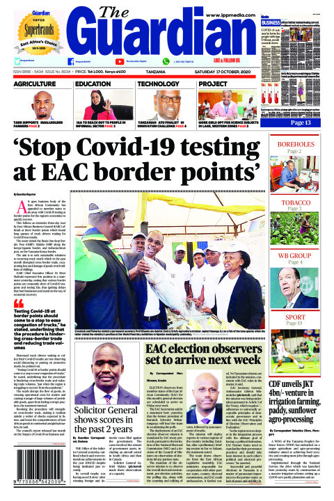 'Stop Covid-19 testing at EAC border points' | The Guardian