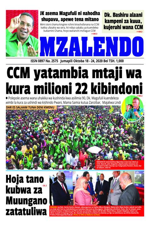 CCM yatambia mtaji wakura milioni 22 kibindoni | Mzalendo