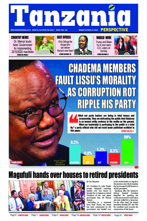 Chadema members fault Lissu's morality as corruption rot rip | Tanzania Perspective