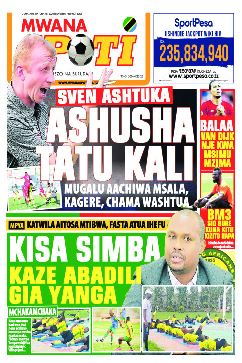SVEN ASHTUKA ASHUSHA TATU KALI  | Mwanaspoti