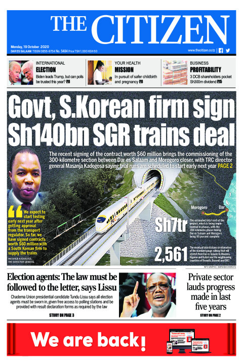 GOVT, S.KOREAN FIRM SIGN SH140BN SGR TRAINS DEAL