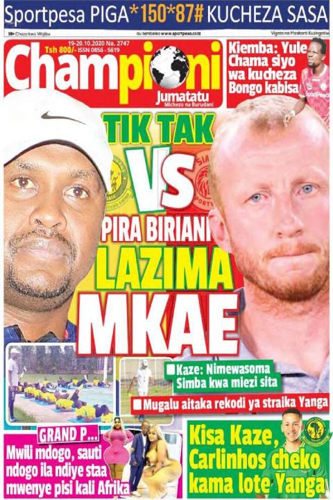 TIK TAK VS PIRA BIRIANI LAZIMA  MKAE | Champion Jumatatu