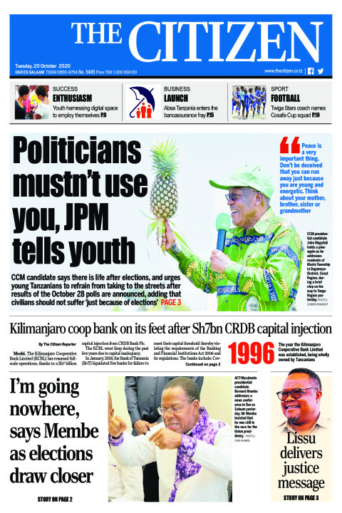 POLITICIANS MUSTN'T USE YOU,JPM TELLS YOUTH 