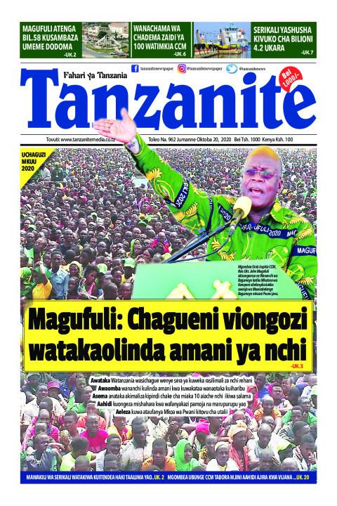 Magufuli: Chagueni viongozi watakaolinda amani ya nchi | Tanzanite