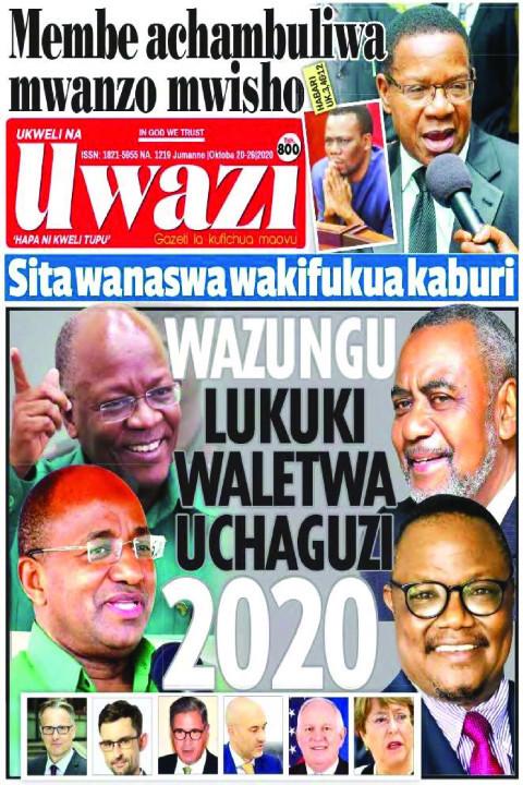 WAZUNGU LUKUKI WALETWA UCHAGUZI 2020 | Uwazi