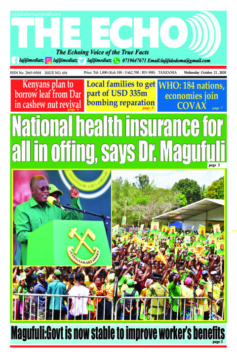 National health insurance for all in offing, says Dr. Magufu | The ECHO