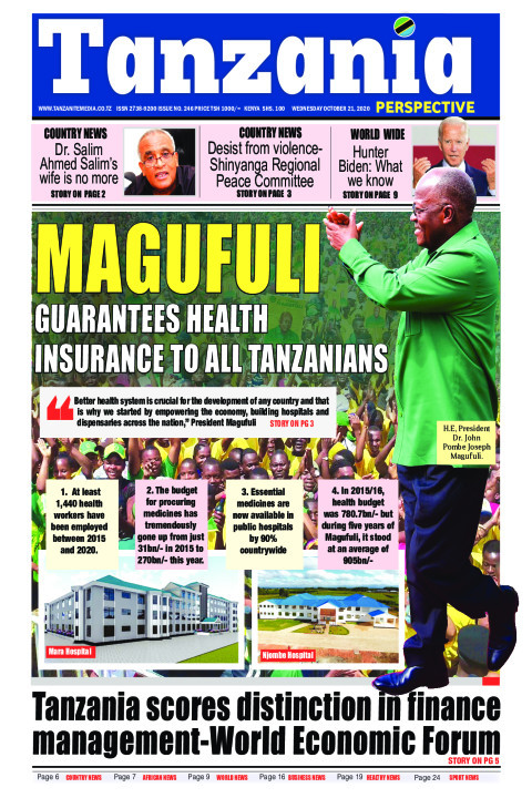 Magufuli guarantees health insurance to all Tanzanians