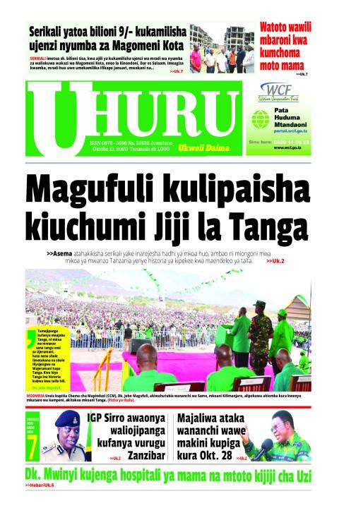 Magufuli kulipaisha kiuchumi Jiji la Tanga   Uhuru
