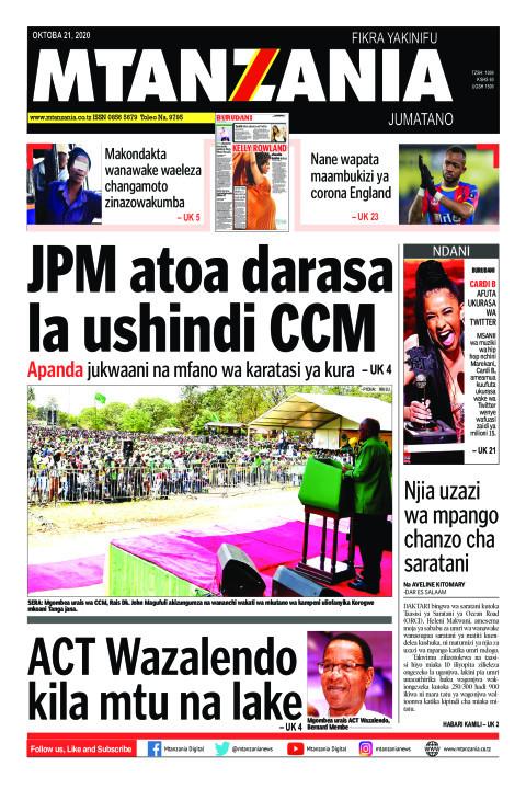 JPM atoa darasa la ushindi CCM | Mtanzania