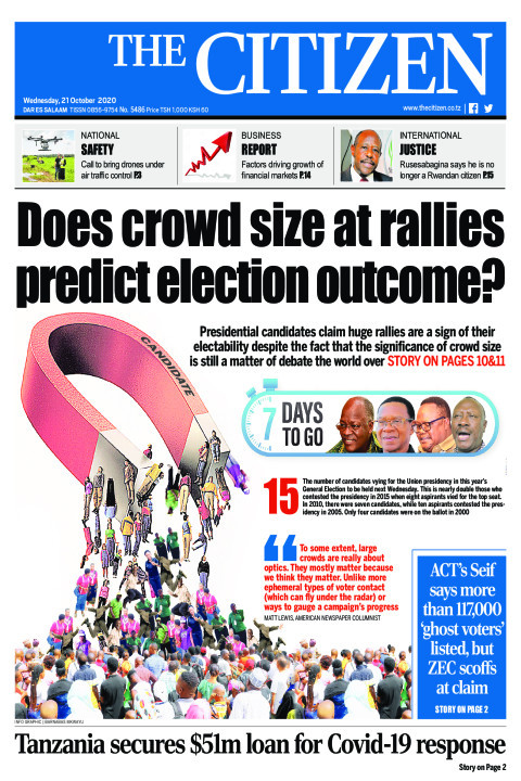 DOES CROWD SIZE AT RALLIES PREDICT ELECTION OUTCOME  | The Citizen