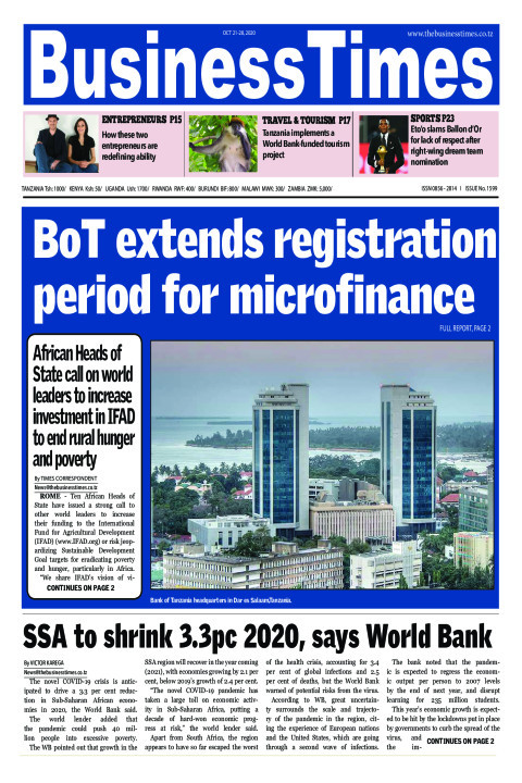 BoT extends registration period for microfinance | Business Times