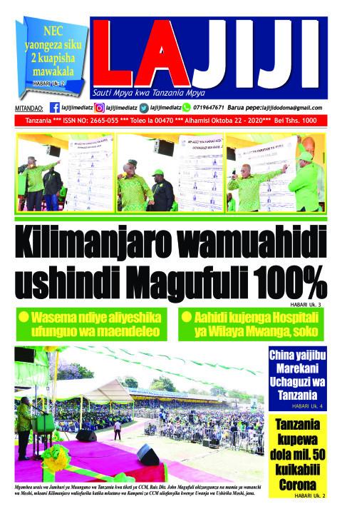Kilimanjaro wamuahidi ushindi Magufuli 100%  | LaJiji