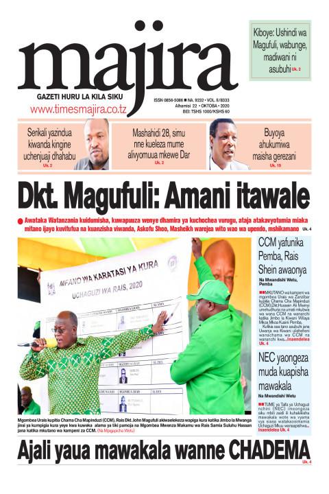 Dkt Magufuli: Amani itawale | MAJIRA