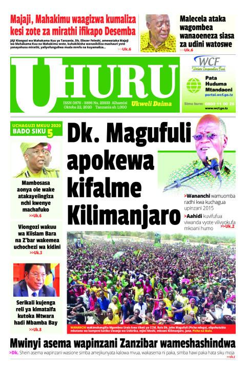 Dk. Magufuli apokewa kifalme Kilimanjaro   Uhuru