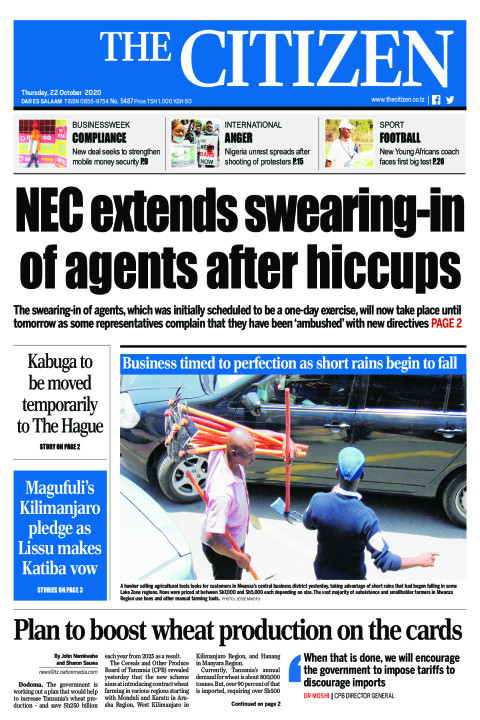 NEC EXTENDS SWEARING -IN OF AGENTS AFTER HICCUPS