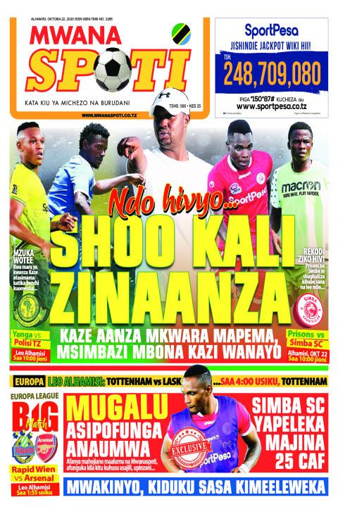 NDO HIVYO SHOO KALI ZINAANZA  | Mwanaspoti