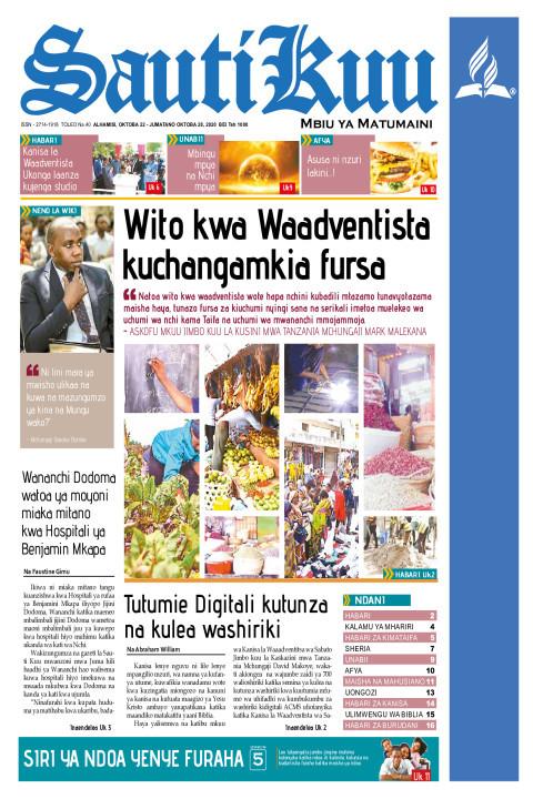 WITO KWA WAADVENTISTA KUCHANGAMKIA FURSA ZA KIUCHUMI | Sauti Kuu Newspaper