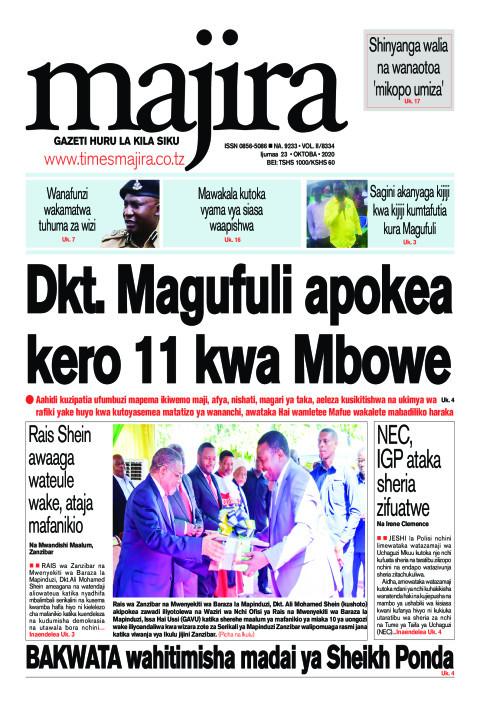 Dkt. Magufuli apokea kero 11 kwa Mbowe | MAJIRA