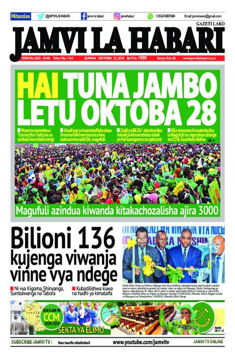 HAI TUNA JAMBO LETU OKTOBA 28 | Jamvi La Habari