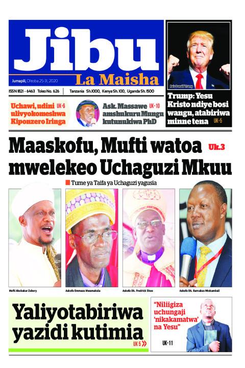 Maaskofu, Mufti watoa mwelekeo Uchaguzi Mkuu | JIBU LA MAISHA
