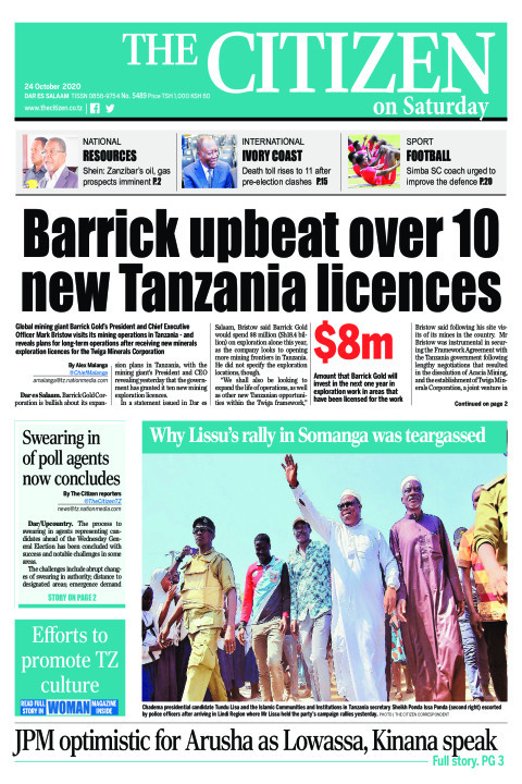 BARICK UPBEAT OVER 10 NEW TANZANIA LICENCES