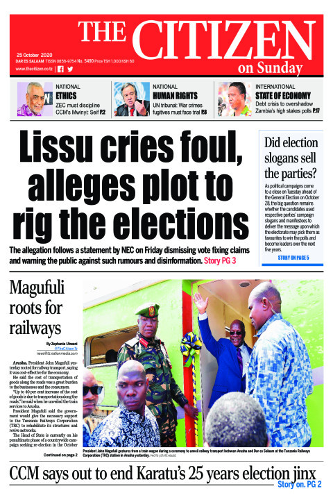 LISSU CRIES FOUL,ALLEGES PLOT TO RIG THE ELECTION
